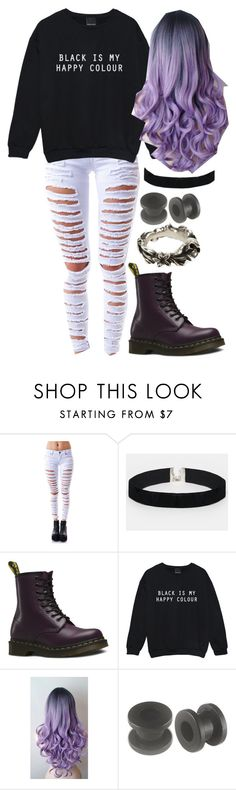 """Untitled #105"" by purpelleunicorn ❤ liked on Polyvore featuring Tripp, ASOS, Dr. Martens, Kale and Werkstatt:München"