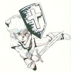 Nintendo's Link as drawn by Haruhiko Mikimoto.