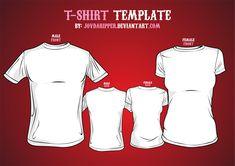 Vector T-shirt Template by JovDaRipper