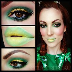 Leprechaun makeup for St.Paddy's day (I think this is better for a Poison Ivy look.)