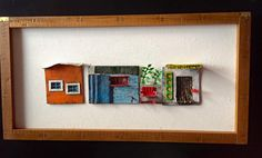 House No 14. Vitreous enamel on copper. Mounted and framed. By Janne Pond…