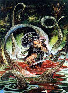 Conan art by Alfonso Azpiri
