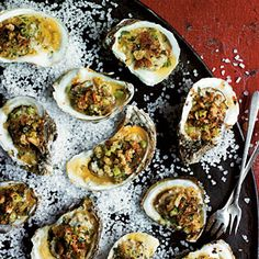 Broiled Oysters on the Half Shell | MyRecipes.com