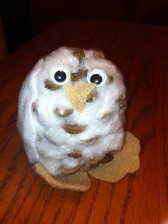 pinecone snowy owl craft - Google Search