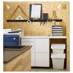 SORTERA Recycling bin with lid, white, 16 gallon. You can easily access the contents of a bin, even when stacked, because it has a folding lid. Ikea Storage, Storage Boxes, Ikea Organization, Bath Storage, Plastic Storage, Storage Baskets, Bathroom Crafts, Reuse Recycle, Recycling Bins