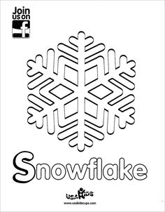 """Decorate for winter with USA Kids """"Snowflake"""" coloring sheet."""