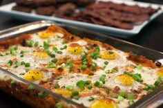Baked Huevos Rancheros Casserole - perfect brunch for a crowd