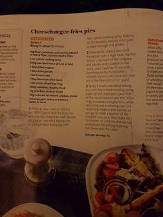 Slimming world cheeseburger fries pies