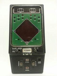 Fonas All-Star Baseball Vintage Handheld Video Game Vintage Video Games, Retro Video Games, Vintage Games, Handheld Video Games, Video Game Collection, Baseball Star, Electronic Toys, Arcade Games, Nintendo Consoles
