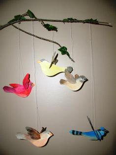 Hands On Crafts for Kids - bird mobile, nice pattern available for birds - I downloaded PDF - saved under Church/SS/Primary/2013/God is Love