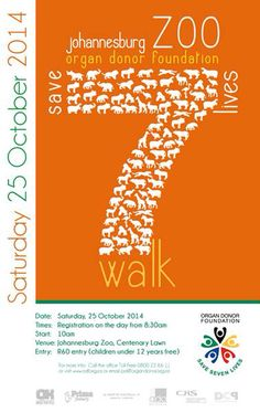 Save 7 Lives Walk at Joburg Zoo in aid of Organ Donor Foundation Foundation, Day, Life, Foundation Series