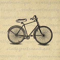 Printable Image Vintage Bike Download by VintageRetroAntique