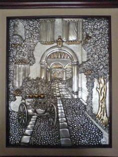 moldes de repujado en aluminio - Pesquisa Google Aluminum Foil Art, Metal Embossing, Metal Engraving, Pewter Metal, Metal Crafts, Aluminium, Metal Art, Wordpress Theme, Sculpture Art