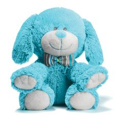 Plush Pup Blue Puppy Boys Three Cheers Baby Stuffed Dog Animal Soft Embroidered  http://stores.ebay.com/beachcats-bargains  beachcats bargains