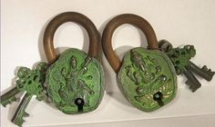 Tibetan Locks with 2 special keys for each lock - - custom to only that one!