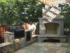 More affordable design for outdoor entertaining area..