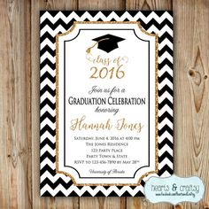 Graduation Party Invitation College by HeartsandCraftsy on Etsy