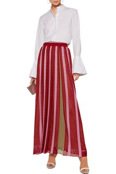 Shop on-sale Missoni Pleated crochet-knit maxi skirt. Browse other discount designer Skirts & more on The Most Fashionable Fashion Outlet, THE OUTNET.COM