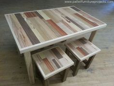 Wow, this whole set of the pallet wooden coffee tables is pretty cute. Such an…