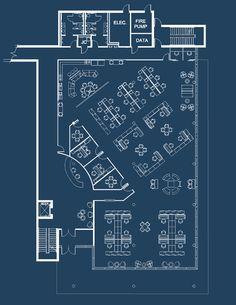restaurant plan Service Authority Extension on Behance Cafe Floor Plan, Restaurant Floor Plan, Restaurant Layout, Office Floor Plan, Restaurant Interior Design, Hotel Floor Plan, Restaurant Restaurant, Office Space Design, Modern Office Design