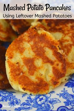 This is an old fashioned mashed potato pancakes recipe. Granny used onion juice (grated onions), beaten egg and bread c Leftover Mashed Potato Pancakes, Mashed Potato Patties, Vegan Mashed Potatoes, Leftover Mashed Potatoes, Recipe For Potato Pancakes, Potatoe Cakes Recipe, Mashed Potato Pizza, Cheese Potatoes, Baked Potatoes