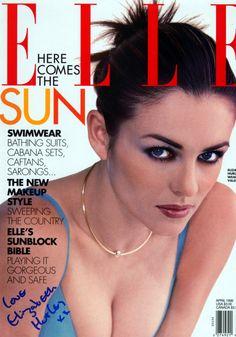 Elizabeth Hurley x Elle April 1996 New Makeup Style, Elle Magazine, Magazine Covers, Elle Spain, Elle Us, Elizabeth Hurley, Vintage Soul, Princess Caroline, Vintage Magazines