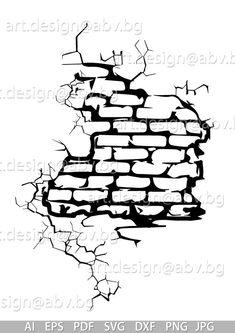 Graffiti Doodles, Graffiti Drawing, Graffiti Alphabet, Graffiti Lettering, Cool Art Drawings, Brick Wall Drawing, Learn To Sketch, Cracked Wall, Graffiti Characters