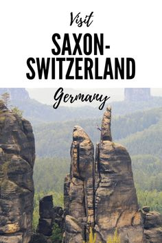 Saxon-Switzerland, a rock spire forest near Dresden, Germany