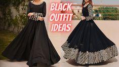 Latest Party Wear Black Outfit Ideas | 30+ Beautiful Black Suit/ Dress D... Party Wear Indian Dresses, Prom Dresses, Formal Dresses, Black Kurti, Black Suit Dress, Dress Designs, Wearing Black, Designer Dresses, Outfit Ideas