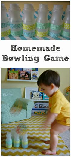 Homemade Bowling Game--A fun way to use recycled materials.