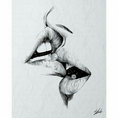 Find images and videos about love, art and black and white on We Heart It - the app to get lost in what you love. Tumblr Art Drawings, Pencil Art Drawings, Art Drawings Sketches, Cool Eye Drawings, Paintings Tumblr, Drawing Lips, Art And Illustration, Ink Illustrations, Landscape Illustration