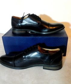 bcb96a57a NEW Gino Vitale Lace Up Medallion Toe Dress Shoes Black Oxfords size11  #fashion #clothing