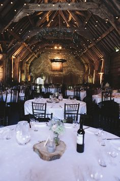 Barn Festoon Lights Rustic Quintessentially English Countryside Wedding http://www.sarahmorris-photography.com/