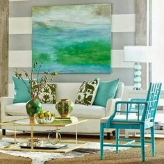 the Best Artful Coastal Blue Living Rooms from Wisteria - homesdecoring Living Room Decor, Living Spaces, Living Rooms, Family Rooms, Interior Decorating, Interior Design, Coastal Living, Coastal Style, Cottage Style