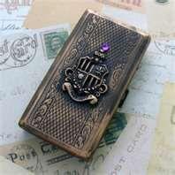 Steampunk Victorian Cigarette Tobacco Case Wallet Box business card ...