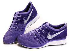 Nike Flyknit Tranare Kvinnor Domstol Lila Medium Violett Vit €63.93