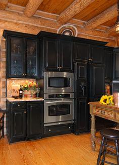 96 best log cabin kitchen ideas images kitchen dining decorating rh pinterest com Cabin Painted Kitchen Cabinet Ideas Cabin Painted Kitchen Cabinet Ideas