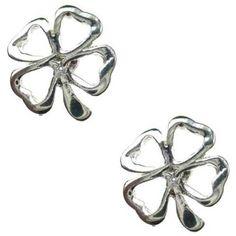 Lucy Loves Neko Elsie Clover Earrings (20 AUD) ❤ liked on Polyvore featuring jewelry, earrings, metal jewelry, clover earrings, metal earrings, four leaf clover earrings and clover jewelry