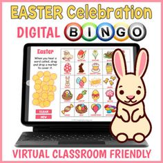 Digital Easter Day BINGO Game - Distance Learning Activity | TpT Fun Classroom Activities, Easter Activities, Learning Activities, Easter Games Online, Online Games, Easter Bingo, Interactive Board, Virtual Games, About Easter