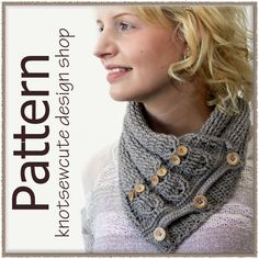 $PATTERN: Cabled Owl Neck Warmer from Knot Sew Cute (owls!!)