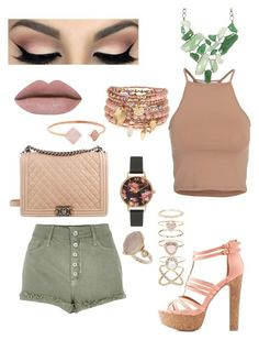 """Girly"" by lonerforlife02 on Polyvore featuring NLY Trend, River Island, Charlotte Russe, Chanel, Olivia Burton, Michael Kors, Accessorize, Topshop and BCBGMAXAZRIA"