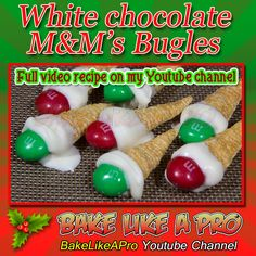 White Chocolate M&M's Bugles Recipe White Chocolate M&ms, Holiday Treats, Holiday Recipes, Bugles Recipe, Liver Healthy Foods, Baking Recipes, Great Recipes, White Icing
