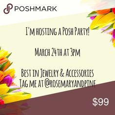 I'm hosting a Posh Party!! Tag me for a potential host pick! :) Other