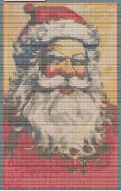 Cross Stitch Pattern Vintage Santa PDF - Christmas Xmas Cross Stitch on Etsy, £2.50