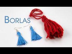 Borlas o Flecos Facilisimo y Rapido - YouTube Lana, Diy Jewelry, Tassel Necklace, Craft Ideas, Sewing, Youtube, Crafts, Stud Earrings, Craft Tutorials