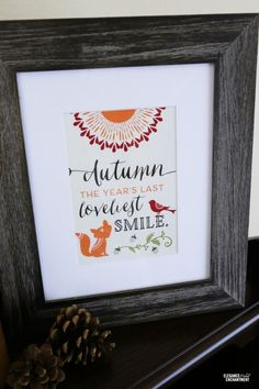 Woodland Party Printables | Free Printables for decorating your home for fall. This Woodland theme bring charm to any room. Get your free download - TodaysCreativeLife.com