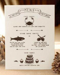 Shake My Blog | Un menu original pour votre mariage