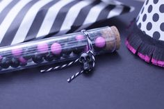 Black + Pink Skeleton Chic party favors