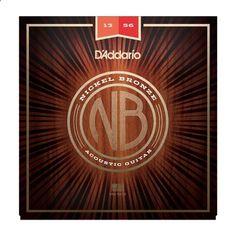 DAddario NB1356 Nickel Bronze Medium Acoustic Guitar Strings 13-56