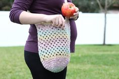 1 Skein Crochet Farmer's Market Bag